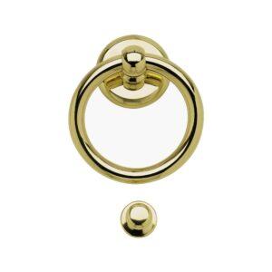 deurklopper-voordeur-messing-klassiek-ring-doorhandleshop.nl-benini-03110AOL